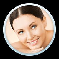 Woman smiling after Skin Rejuvenation