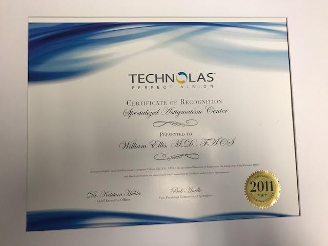 Astigmatism Certificate