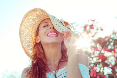 Lady enjoying summer day.