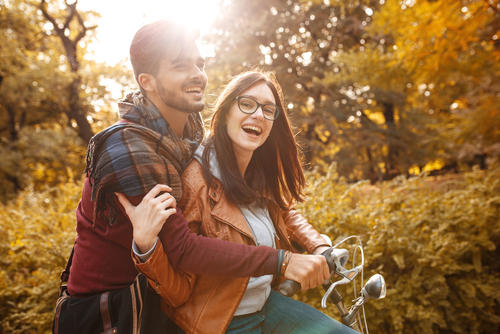 Young couple celebrating after LASIK