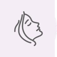 Cosmetics Icon of woman