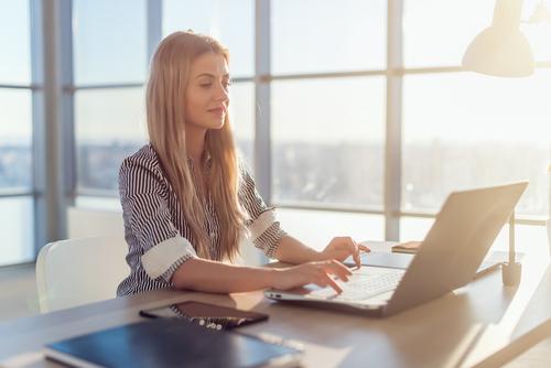 Woman researching LASIK